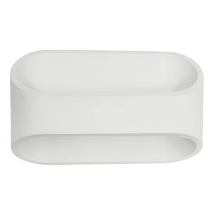 Arandela Interna LED Inspire Koper Retangular Metal Branco Bivolt