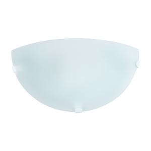 Arandela Interna Ema Lustres Meia Lua Redondo Vidro Branco Bivolt