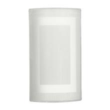 Arandela Interna Isnpire Tella Retangular Alumínio e Vidro Branco Bivolt