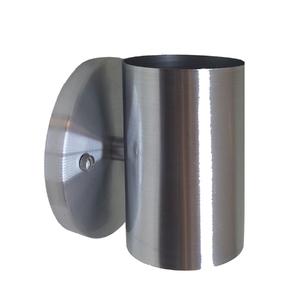 Arandela Interna Tubular Inspire Retangular Metal Prata Bivolt