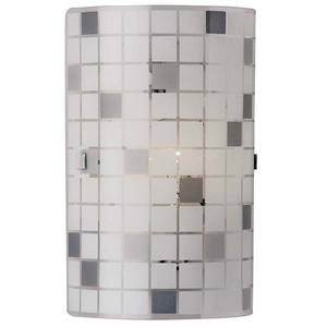Arandela Paulistinha 2 Lâmp. E27 Quadrado 30x30cm Branco e prata Bronzearte