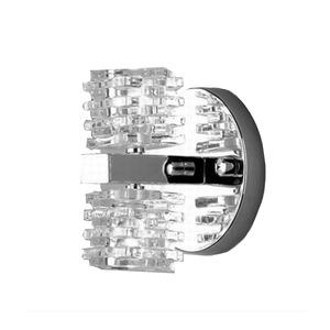 Arandela Prisma Aço Inox/Vidro 12x13cm Prata Bronzearte