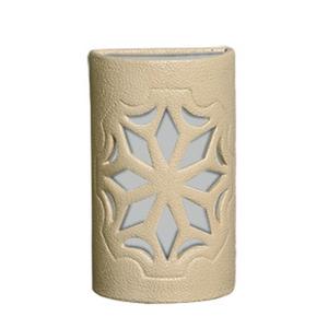 Arandela Alfa Luz 230EX Quadrado Cerâmica Areia 1 Lamp Bivolt