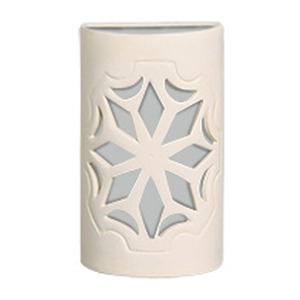 Arandela Alfa Luz 301EX Quadrado Cerâmica Bege 1 Lamp Bivolt