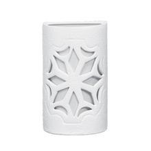 Arandela Alfa Luz 229EX Quadrado Cerâmica Branco 1 Lamp Bivolt