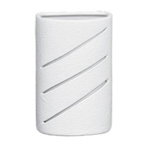 Arandela Alfa Luz 204EX Quadrado Cerâmica Branco 1 Lamp Bivolt