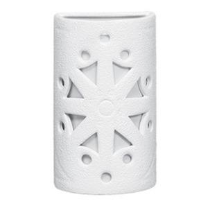 Arandela Alfa Luz 208EX Quadrado Cerâmica Branco 1 Lamp Bivolt