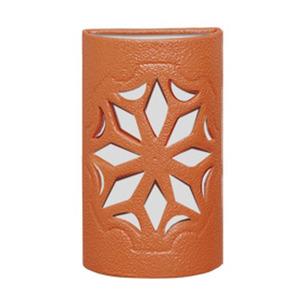 Arandela Alfa Luz 231EX Quadrado Cerâmica Terracota 1 Lamp Bivolt