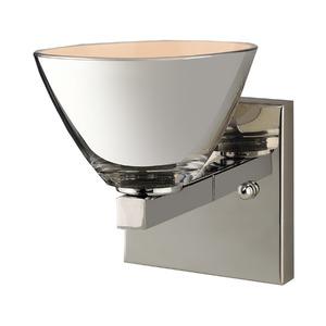 Arandela LLUM Cup Redonda Aço/Vidro Prata 1 Lamp Bivolt