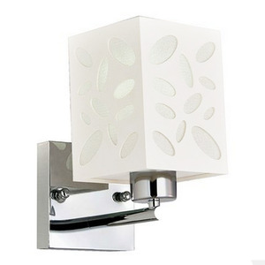 Arandela LLUM Petal Retangular Acrílico/Aço/Policarbonato Branco 1 Lamp Bivolt