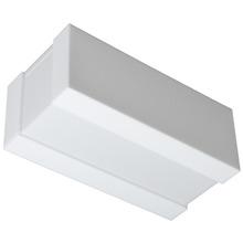Arandela Tualux Retangular Metal e Plástico Branco Bivolt