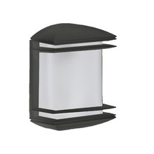 Arandela Dital Elegance Retangular Plástico Preta 1 Lamp Bivolt