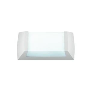 Arandela Titan I Termoplástico 29x15cm Branca Baxton