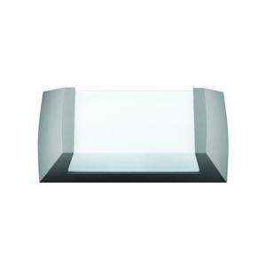 Arandela Titan I Termoplástico 29x15cm Prata Baxton