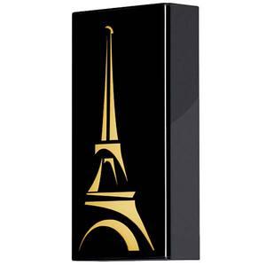 Arandela Torre Eiffel 1 Lâmp. E27 Retangular 16x30cm Preto MM Iluminação