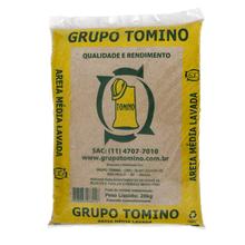 Areia Média Lavada Saco 20kg Grupo Tomino