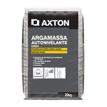 Argamassa Autonivelante Interno Cinza 20kg Axton