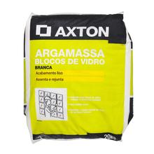 Argamassa Bloco de vidro Interno e Externo Branco 20kg Axton