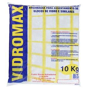 Argamassa Bloco Vidro 10Kg - Vidromax