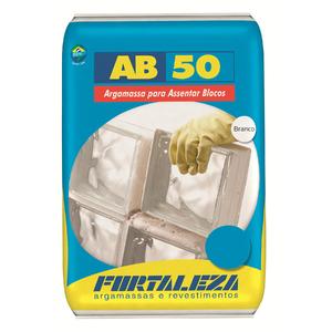 Argamassa Bloco Vidro AB50 Branco 1Kg Fortaleza