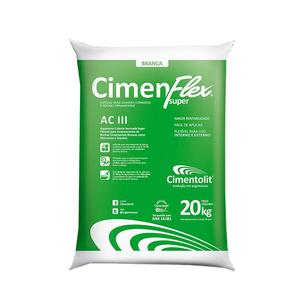 Argamassa Cimenflex ACIII Super Grandes Formatos Branca Saco de 20Kg Cimentolit