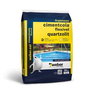 Argamassa Cimentcola Flexível ACIII Cinza 20Kg Quartzolit