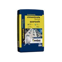 Argamassa Colante Weber Col Cimentcola Flexível ACIII Cinza 20Kg Weber Quartzolit