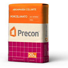 Argamassa Colante Porcelanato Cinza 20Kg Precon