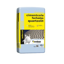 Argamassa Fachadas Cinza 20kg Quartzolit