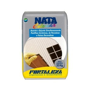 Argamassa para pastilha cerâmica Cinza 1Kg - Fortaleza