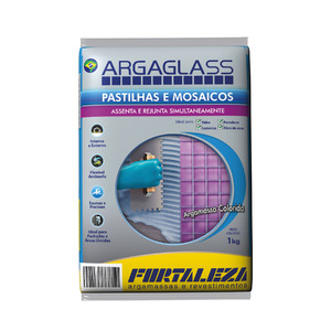 Argamassa para Pastilha de Vidro Azul Esc 1Kg Fortaleza