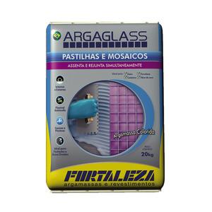 Argamassa para Pastilha de Vidro Azul Turqueza 20Kg Fortaleza