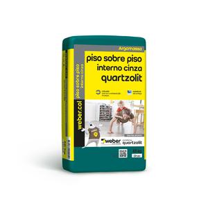 Argamassa Piso sobre Piso Interno Cinza 15kg Quartzolit