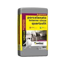Argamassa Porcelanato Interno Cinza 20kg Quartzolit