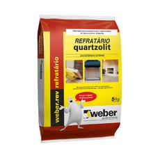 Argamassa Refratário Cinza Fardo com 30Kg Quartzolit