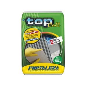 Argamassa Top Coll Interna Cinza 20Kg-Fortaleza