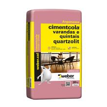Argamassa Weber Col Varandas e Quintais Cinza Saco de 20Kg Quartzolit