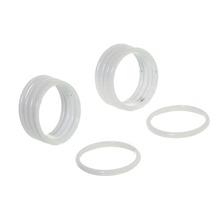 Argola Brilhante Branco 19mm 10 Peças DeVictor