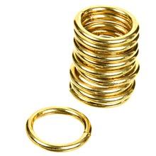 Argola Brilhante Dourada 19mm 10 peças Couselo