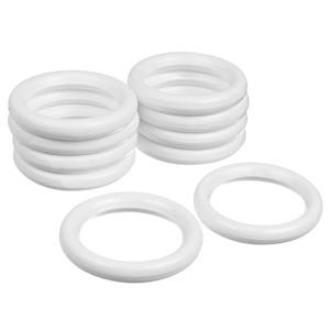 Argola Madeira Branca 32mm 10 peças Santone