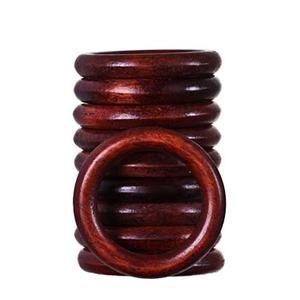 Argola Madeira Mogno 32mm 10 peças