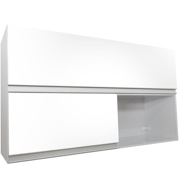 Aparador Embaixo Da Tv ~ Armário de Cozinha Aéreo Branco 150cm Branco Corrediçaso Leroy Merlin