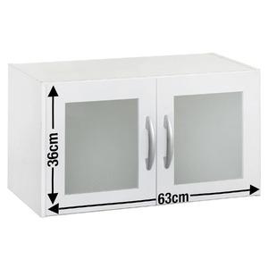 Armário Aéreo com Porta de Vidro Branco 36x63,5x31cm