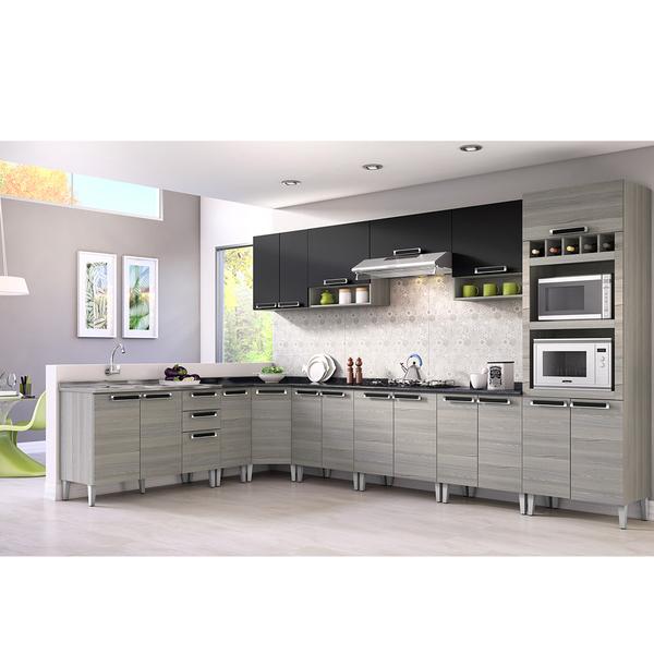 Aparador Embaixo Da Tv ~ Armário de Cozinha Aéreo de Cozinha Madeira Branco, Bege e Preto Itatiaia 33x70cmx27cm Leroy