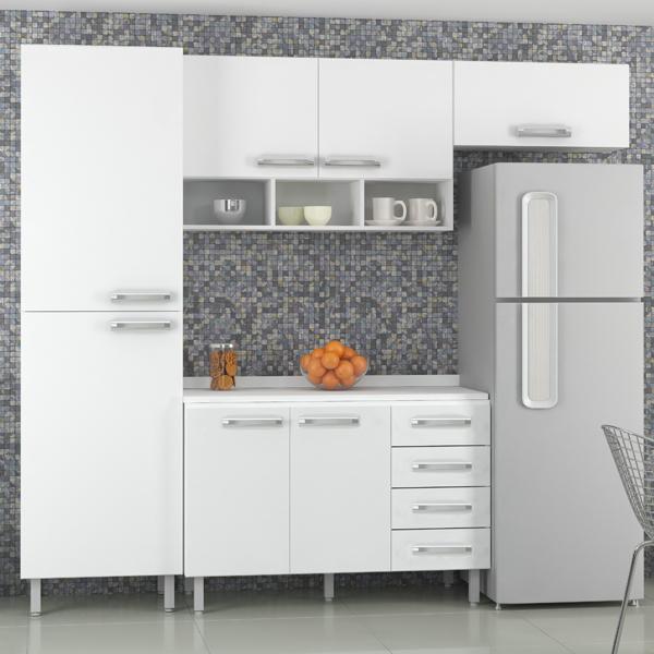 Aparador Embaixo Da Tv ~ Armário de Cozinha Aéreo de Cozinha Madeira Branco Luciane 32,5x70x27cm Leroy Merlin