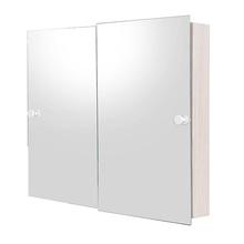 Armário com Espelho Sobrepor Bege 53x80x9,5cm Cris Metal