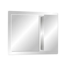 Armário com Espelho Sobrepor Prata 58x60cm H.Chebli
