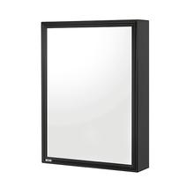 Armário com Espelho Soprepor Preto 33,5x48,5x11cm Cris Metal