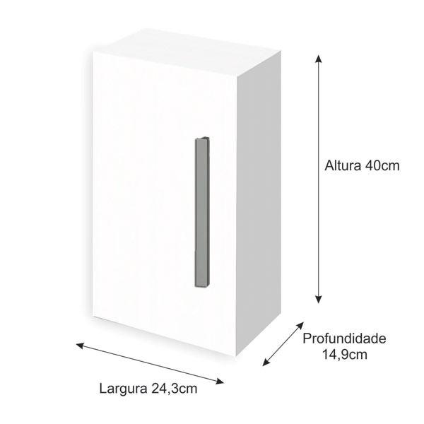 Arm rio modular multiuso 40x24 30x14 90cm branco gaam for Altura de armario