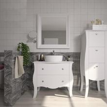 Armário de Banheiro Madeira 75x85x43cm Branco Classe P&C Artemobili